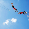 trapeze// blue sky