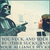 darth vader you suck leia