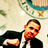 barack obama// fist pump