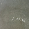 lee: Love - cement background