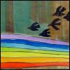 rainbow; birds