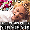 Heath likes them pills.