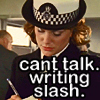 LoM Annie writing slash