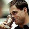 Nick has happy coffee too