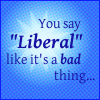 you say liberal like it's a bad thing