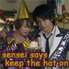 nago says keep the hat