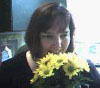 Jenn with flowers