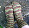 hand-dyed, socks, knit
