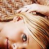 Buffy Giles (AU): laying blank smile