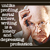 XF: writing is depressing