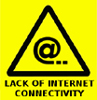warning: lack of internet connectivity