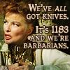 Becka: BARBARIANS!