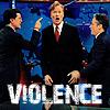 Colbert Stewart Conan Fued Violence
