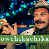 'a whistle & a shout & a broken glass': [Howard Moon] ow!! chika-chikah