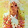 blonde with rabbit