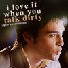 ♥ gg; chuck loves it when you talk dirty