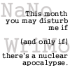 nanowrimo, nuclear apocalypse