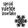 YULETIDE snowflake -