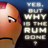 Iron Man - Why has the rum gone