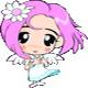 speadee: tiny pink hair angel