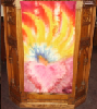 Pulpit with Pentecost Banner