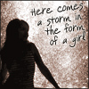 Storm in the form of a girl