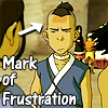 Sokka Mark of frustration