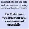 rule 01: feed