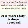 rule 10: more shiny