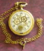 pocket watch, necklace, steampunk, gears