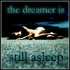 The dreamer is still asleep