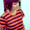 sara red striped shirt by ?