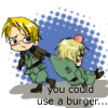 You could use a cheesebuger