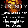 Firefly: love keeps her up