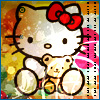 About me cute hello kitty w/bear
