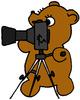 медведь со штативом