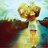 [stock] a girl with flowers