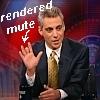 Rahm Emanuel-rendered practically mute!