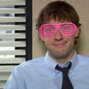 jim halpert rocking the shutter shades