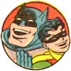 Batman and Robin laughing