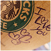 Starbucks | i love you.