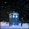 tardis and snow