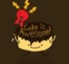 cake is awesome, food - cartoon cake
