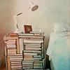 books: bedside table full