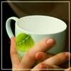 зеленая чашка