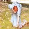 rennaise: degas plucking flower