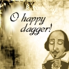 books shakespeare oh happy dagger