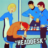 Little Red: trek - ani headdesk - rightonicons