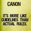Canon guidelines
