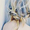 blue + hair